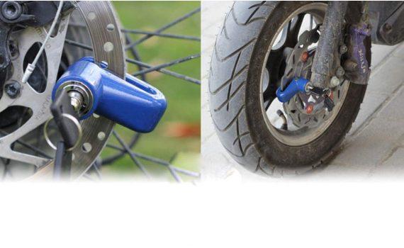 1514 Wheel Padlock Disc Lock Security for Motorcycles Scooters Bikes - DeoDap
