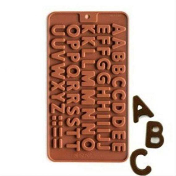 3308 Alphabet Birthday Silicone Chocolate Mold Candy - DeoDap