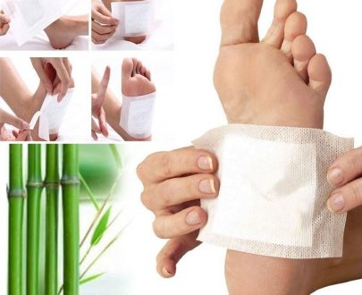 0644 kinoki Cleansing Detox Foot Pads, Ginger & salt Foot Patch -10pcs (Free Size, White) - DeoDap