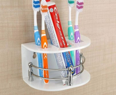 0697 Multi Purpose Tooth Brush Holder/Tooth Paste Stand   (H-107) - DeoDap