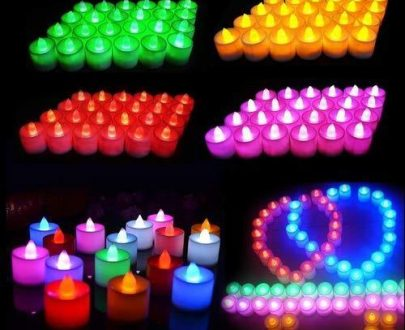 0241 Festival Decorative - LED Tealight Candles (Multi, 24 Pcs) - DeoDap