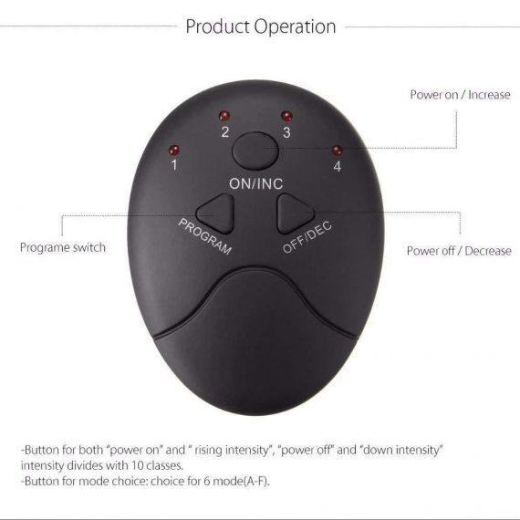 0390 Abdominal & Muscle Exerciser Training Device Body Massager - DeoDap