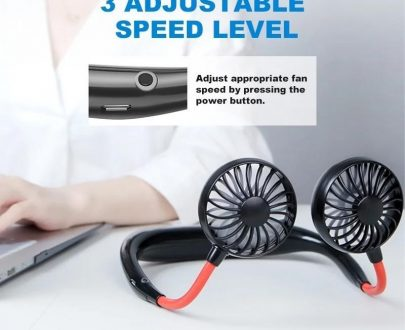 0875 Portable USB Battery Rechargeable Mini Fan - Headphone Design Wearable Neckband Fan - DeoDap