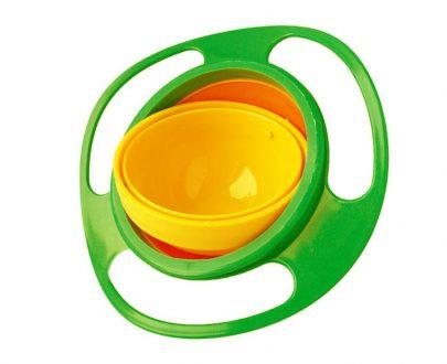 0617 Portable Non Spill Feeding Toddler Gyro Bowl 360 Degree Rotating Dish - DeoDap