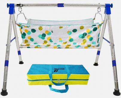 1210 Baby Portable Premium Folding Swing Cradle with Carry Bag - DeoDap