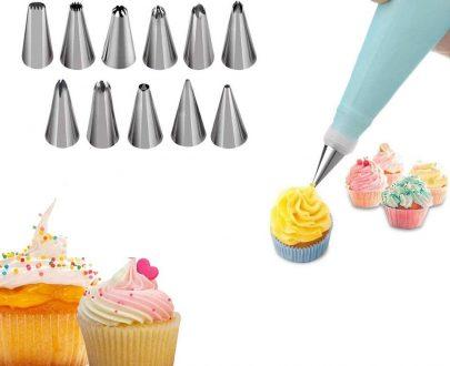 0836 12 Piece Cake Decorating Set of Measuring Cup Oil Basting Brush - DeoDap