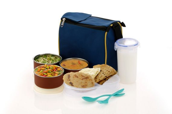2111 Microwave Safe Stainless Steel Small Square Lunch Box Containers - DeoDap