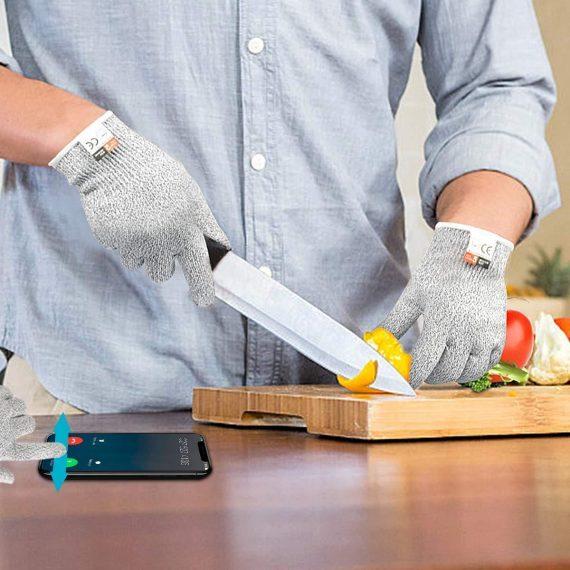 0715 Level 5 Protection Cut Resistant Gloves (1 pair) - DeoDap