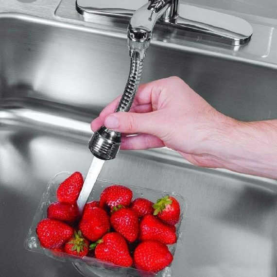 0567 Turbo Flex 360 Degree Rotatory Flexible Sink Water Saving Faucet Nozzle Sprayer - DeoDap