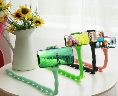 0303 Mobile Phone Holder Multi-Functional Cute Warm Snake Holder - DeoDap