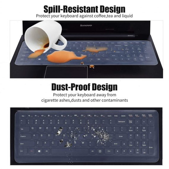 1249 Transparent Thin Clear Keyboard Cover/Transparent Skin - DeoDap