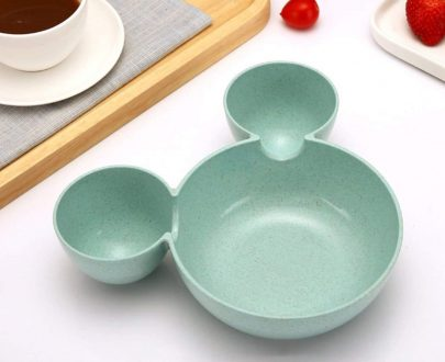 0843 Mickey Shaped Kids/Snack Serving Sectioned Plate - DeoDap