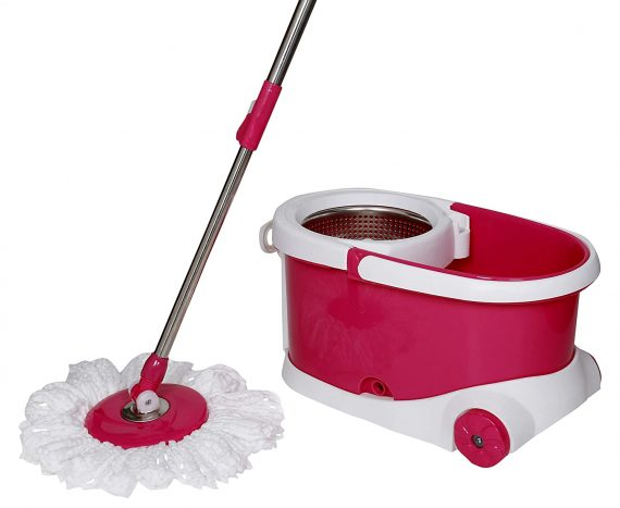 0837 Spin Bucket Mop with Refills for All Type of Floors - DeoDap
