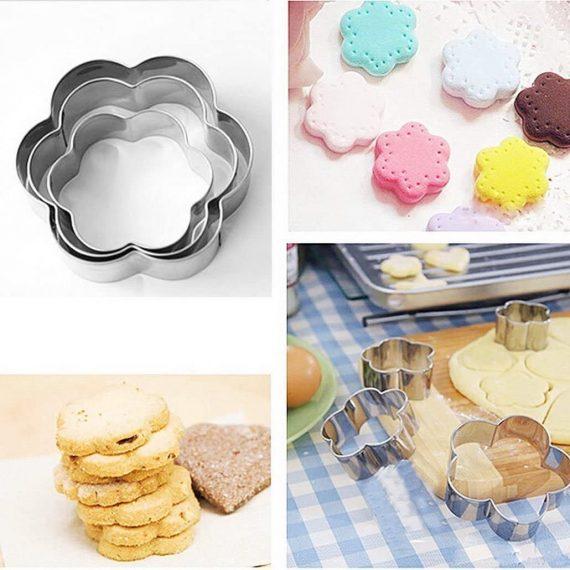 0817 Flower Petal Fondant Mould Sugar Craft Cake Cookies Cutting Tool - DeoDap