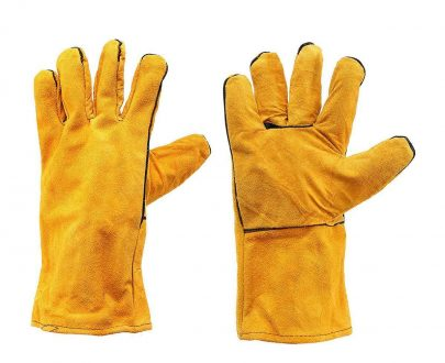 0716 Protective Durable Heat Resistant Welding Gloves - DeoDap