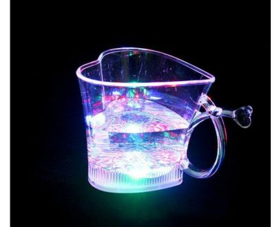 0759 Heart Shape Activated Blinking Led Glass Cup - DeoDap