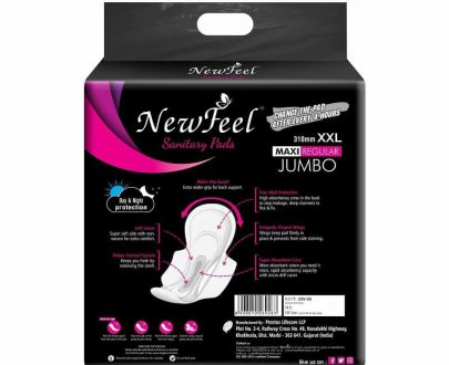 0354 New Feel Sanitary Pad 310 mm XXL maxi Regular Jumbo - 40pads - DeoDap