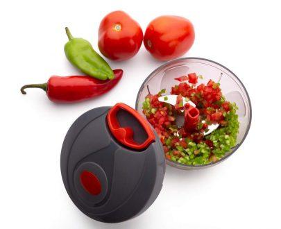 080 Manual Food Chopper, Compact & Powerful Hand Held Vegetable Chopper/Blender - DeoDap