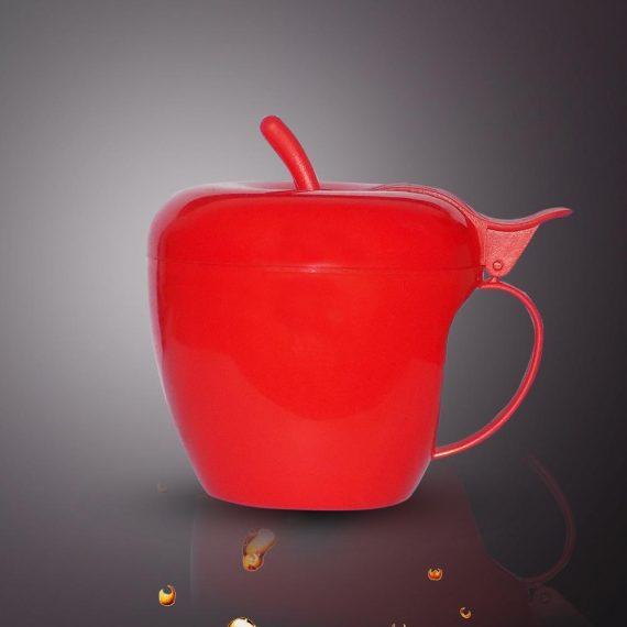 0864 Fancy Apple Shaped Plastic Tea/Coffee Mug or Cup With Lid - DeoDap