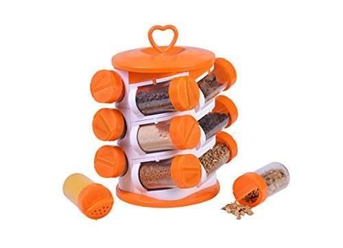 2036 Spice jar Set - Food Grade Plastic 12pcs Spice jar - DeoDap