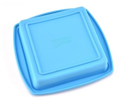 3317 Silicone Square Pan Cake Mould   Non-Stick makeing and  Bakeware Pan Cake for making different Homemade Item Reusable Food-Grade, 10x10 Inch (Pack of 1) - DeoDap