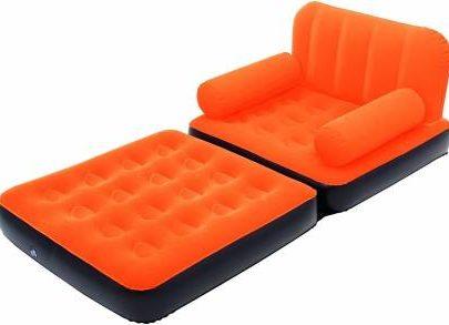 Bestway Air Sofa Cum Bed (Orange)