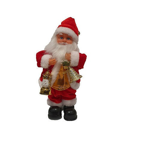 Christmas Decoration Santa Claus Toy With Bell & Lantern
