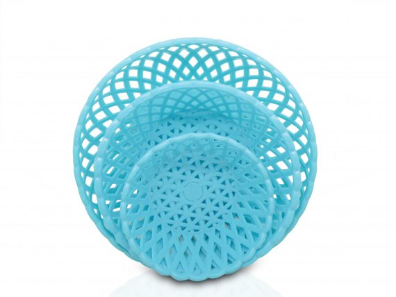 2088 Multipurpose Round Storage Plastic Basket Tray (3pcs) - DeoDap