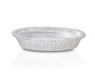 2090 Multipurpose Royal Design Oval Silver Gift Tray - DeoDap