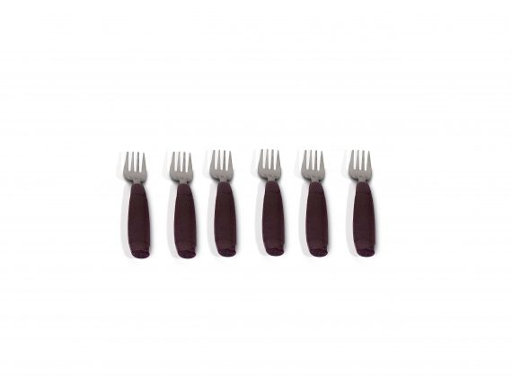 2094 Stainless Steel Cutlery Set with Plastic Storage Box (24 Pieces - Brown) - DeoDap