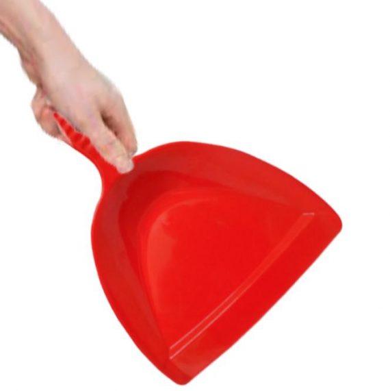 2113 Heavy Duty Plastic Dustpan with Handle Durable Lightweight Multi Surface Dust Pan - DeoDap