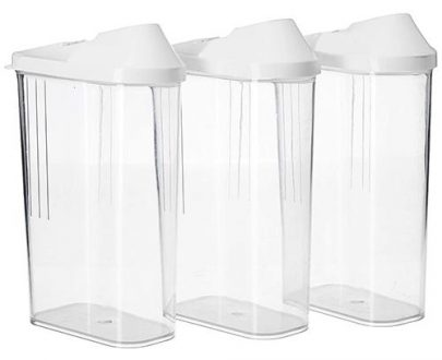 2166 Transparent Plastic Air Tight Food Storage Container Jar Dispenser for Kitchen - 1100 ml (Set of 3) - DeoDap