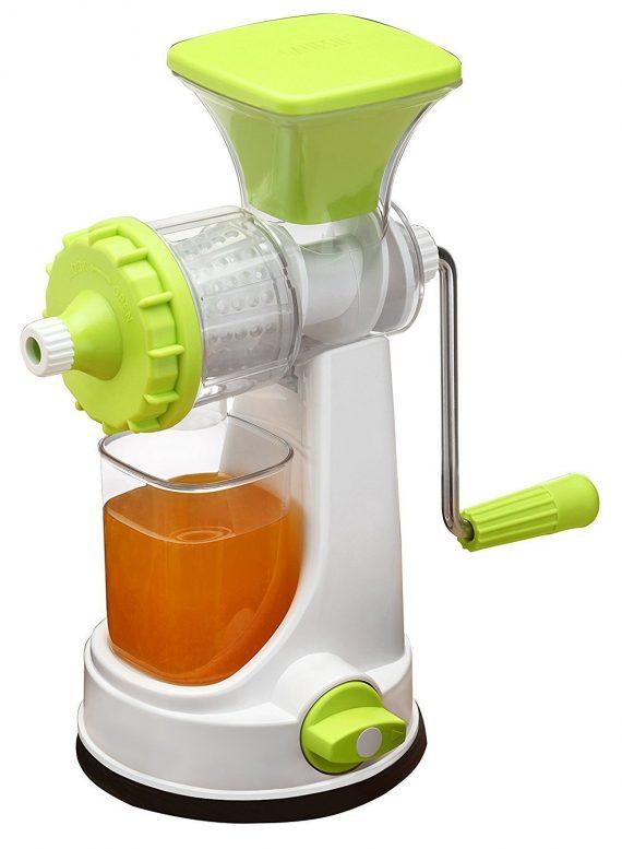 0140 Plastic Multipurpose Manual Juicer (Green) - DeoDap