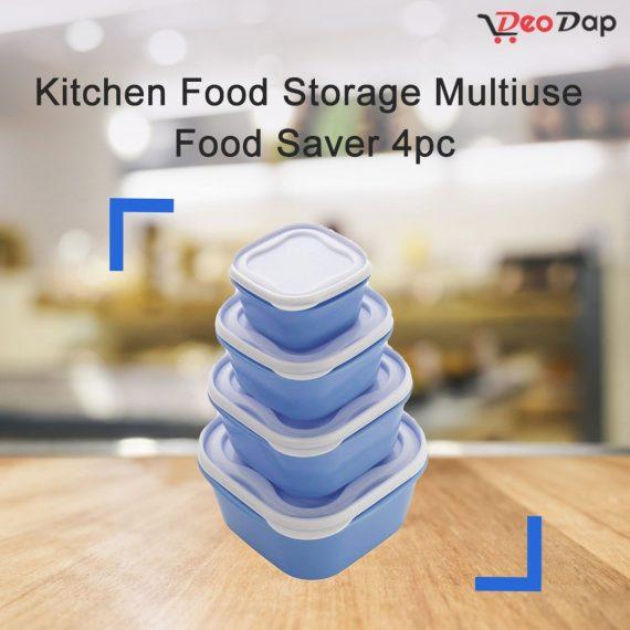 2029 Kitchen Food Storage Multiuse Food Saver 4pc - DeoDap