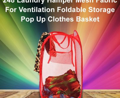 0248 Laundry Hamper Mesh Fabric For Ventilation Foldable Storage Pop Up Clothes Basket - DeoDap