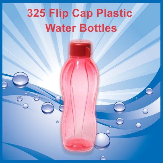 0325 Flip Cap Plastic Water Bottles - DeoDap
