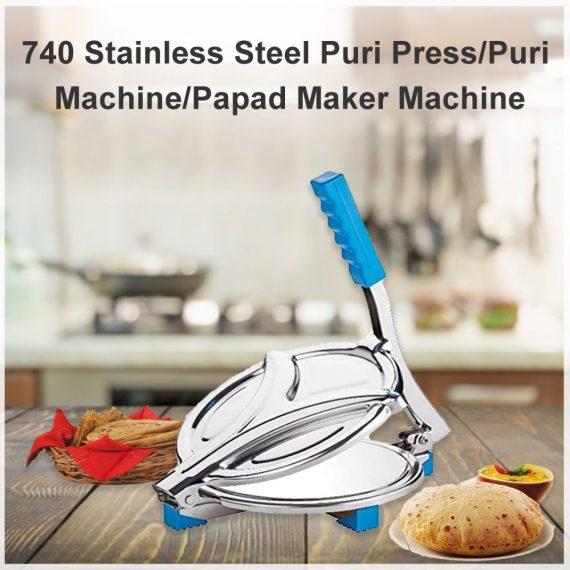 0740 Stainless Steel Puri Press/Puri Machine/Papad Maker Machine - DeoDap