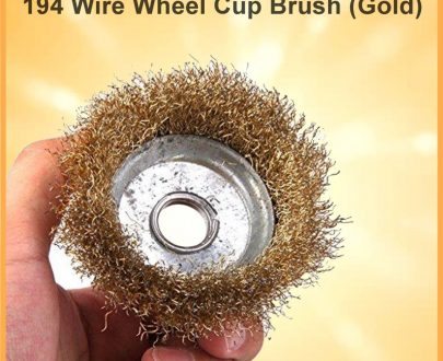 0194 Wire Wheel Cup Brush (Gold) - DeoDap