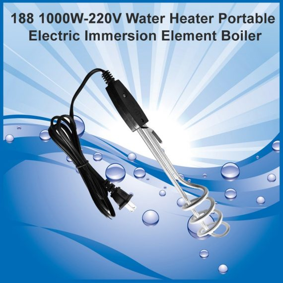 0188 1000W-220V Water Heater Portable Electric Immersion Element Boiler - DeoDap