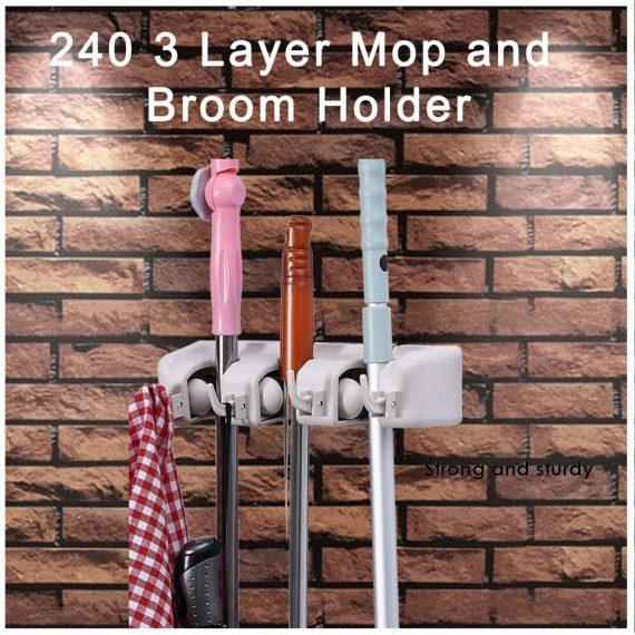 0240 3 Layer Mop and Broom Holder - DeoDap
