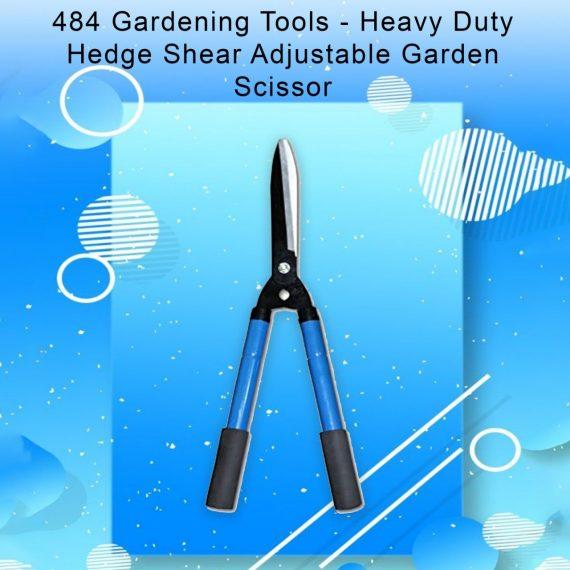 0484 Gardening Tools - Heavy Duty Hedge Shear Adjustable Garden Scissor with Comfort Grip Handle - DeoDap