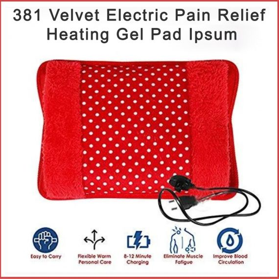 0381 Velvet Electric Pain Relief Heating Gel Pad - DeoDap