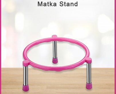 0628 Stainless Steel Single Ring Matka Stand - DeoDap