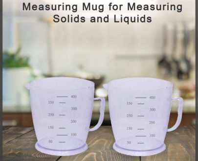 0786 Professional Transparent Measuring Mug for Measuring Solids and Liquids - Pack of 2 - DeoDap