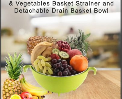 0728 Multifunctional Washing Fruits & Vegetables Basket Strainer and Detachable Drain Basket Bowl - DeoDap