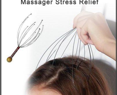 0253 Hand Held Scalp Head Massager Stress Relief - DeoDap