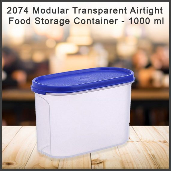 2074 Modular Transparent Airtight Food Storage Container - 1000 ml - DeoDap