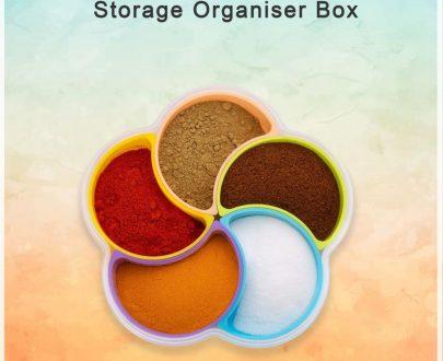 2072 5-Compartment Multipurpose Storage Organiser Box - DeoDap