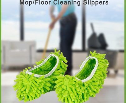 0516 Multi-Function Washable Dust Mop/Floor Cleaning Slippers - DeoDap