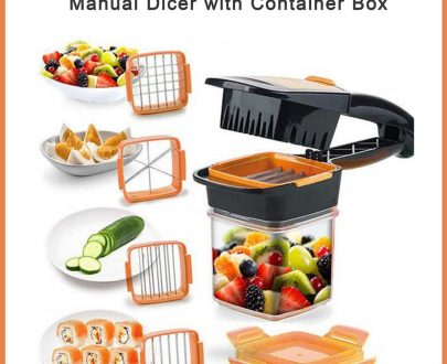 2069 5 in 1 Multifunction Vegetable Cutter Manual Dicer with Container Box - DeoDap